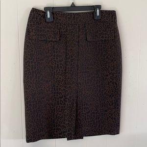 Ann Taylor cheetah print pencil skirt size 4